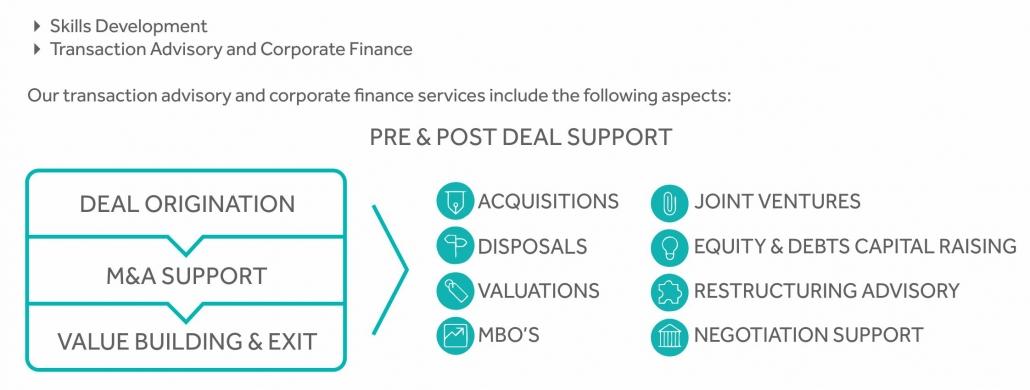 Transaction advisory and corporate finance